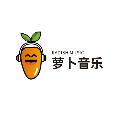萝卜音乐卡通形象LOGO