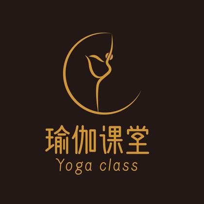 瑜伽舞蹈线性简约风logo