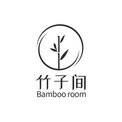 水墨风竹子企业形象logo