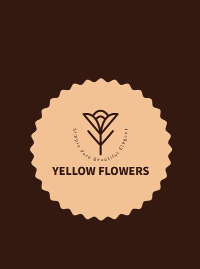 咖啡色简约风格企业形象纸袋