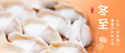 冬至二十四节气饺子实物橙色