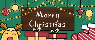圣诞节气氛可爱插画风