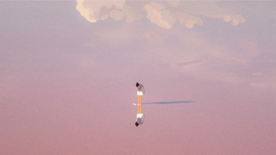 一个人在海边风景