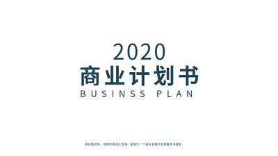 白色简约商业计划书