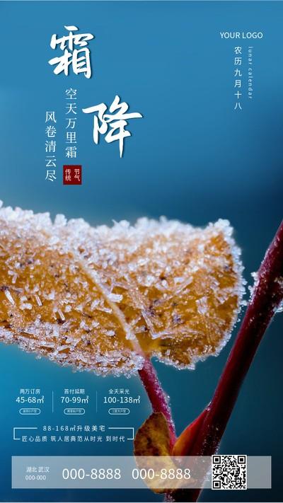 霜降实景 手机海报